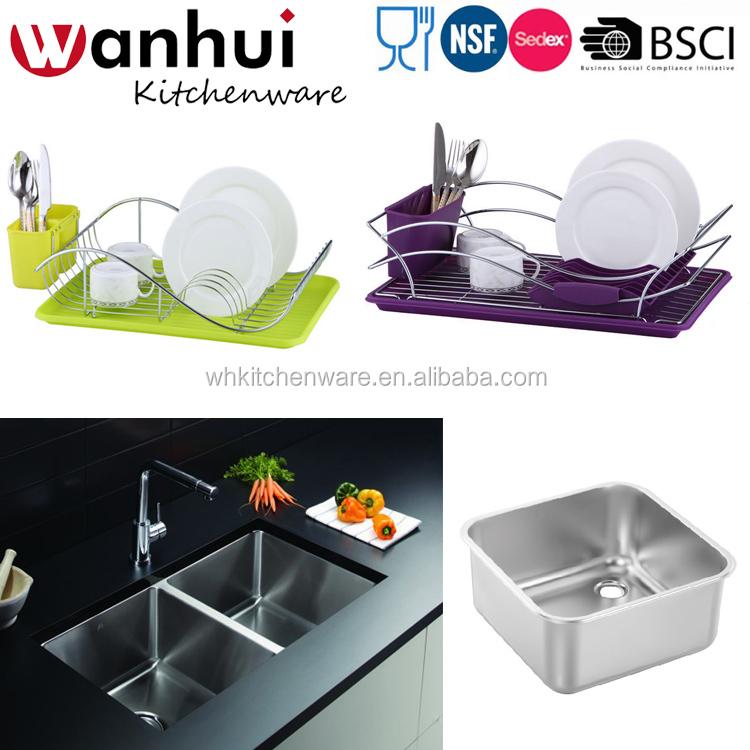 Hot Plastic Over The Sink Kitchen Dish Drainer Rackdisplay Rack