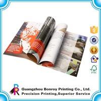 Saddle binding cheap magazine printing custom design home furniture catalog