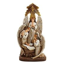 13 Inch <span class=keywords><strong>Malaikat</strong></span> Bersujud Resin <span class=keywords><strong>Natal</strong></span> Nativity Figurine Patung