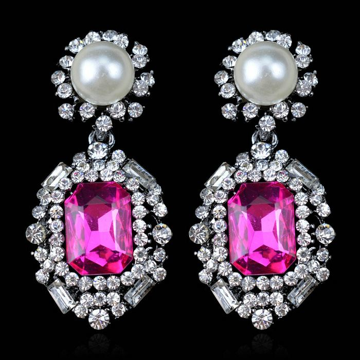Tryme <strong>Jewelry</strong> 2015 luxury fashion crystal earrings,korean <strong>jewelry</strong> earrings