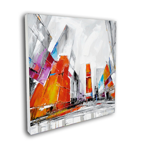Abstract Modern Cityscape oil Painting Street View Wall Art for Living Room Original Designed Canvas on Print
