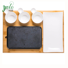 100% Bamboo Cutting Serving Board with Steak Stone