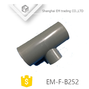 EM-F-B252 PVC reducing 3-way pipe tee