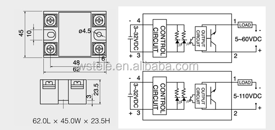 SSR- 10DD Single phase DC Solid state relay,ssr relays,single phase under/over voltage relay