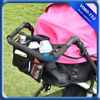 Baby Stroller Organizer Bag Bottle holder Diaper Changing Storage