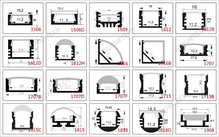 2017 new bendable anodized led aluminum profile for led strips led profile buy led profile. Black Bedroom Furniture Sets. Home Design Ideas