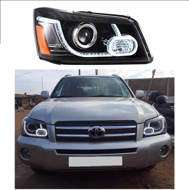 Vland factory car head Light for Highlander 2001-2007 kluger headlight [US type] LED DRL