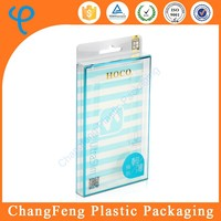 Crystal clear cell phone case packaging hard plastic box