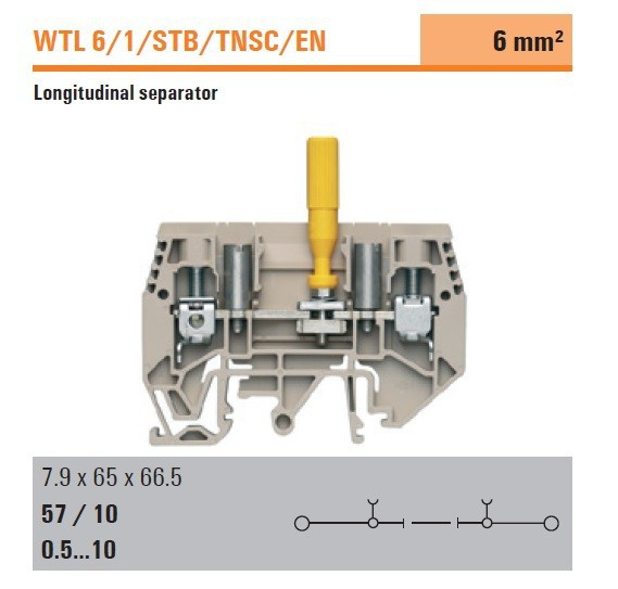 Authentic Weidmuller Test-disconnect Terminal Block Wtl 6/1/stb/tnsc/en -  Buy Weidmuller Test Terminal Block,Terminal Block,Terminal Block Product on