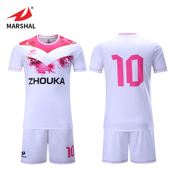 9f1f111ea custom pink sublimated kids youth football jerseys wholesale shirt soccer  jersey