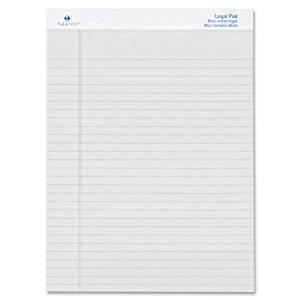 """Colored Pad, Legal Rule, 8-1/2""""x11-3/4"""", 50 Sheets, 12-Pack Color: Ivory"""