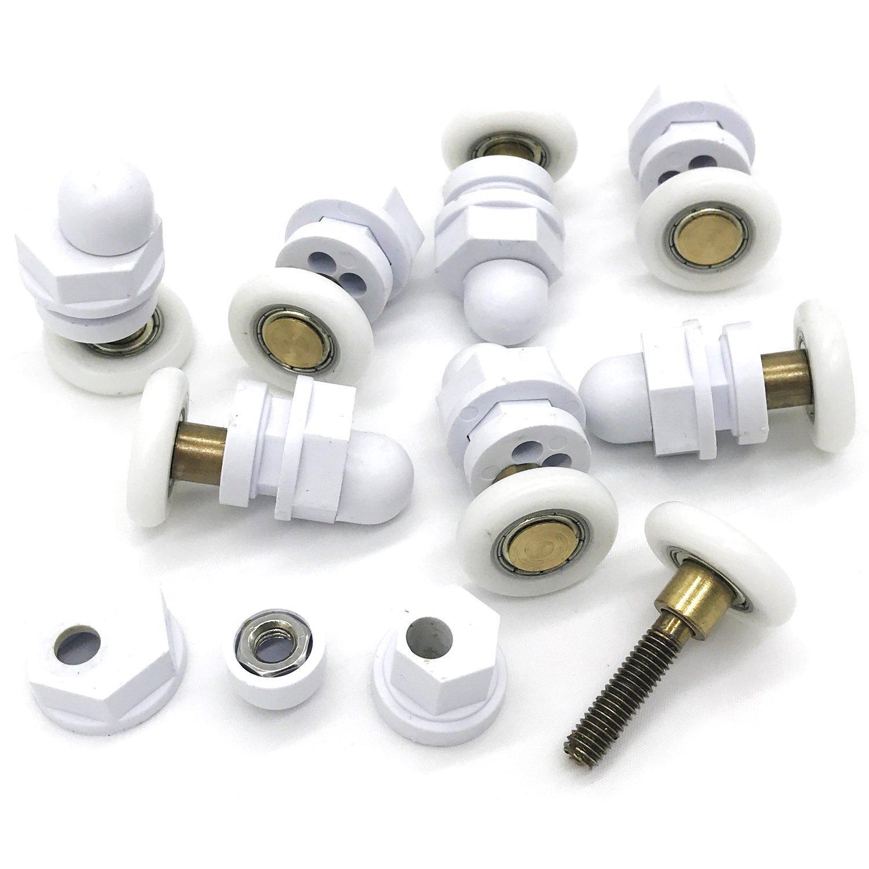 8 new replacement Swivel shower door rollers 27mm wheels