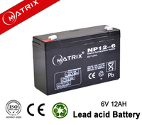 hot selling model 6v12ah sealed lead acid battery rechargeable