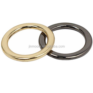 Wholesale Zinc Alloy O Ring Metal Handbag Accessories Flat Round Ring