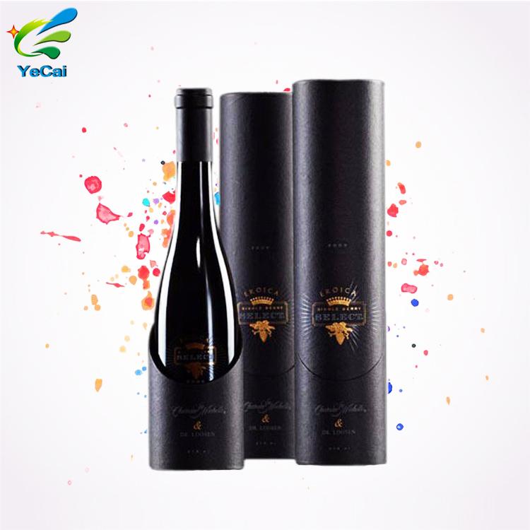 Design unico del fornitore della cina di stampa personalizzata scatola di carta vino rotondo fantasia fresco scatole di carta di fabbricazione scatola rotonda