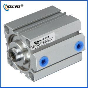SDA series high quality thin cylinder,gas or oxygen lock brake master engine pneumatic air or water mini hydraulic cylinder