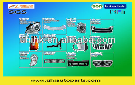 Car/auto body parts---lamps bumper grille mirrors etc body parts for hyundai terracan 04