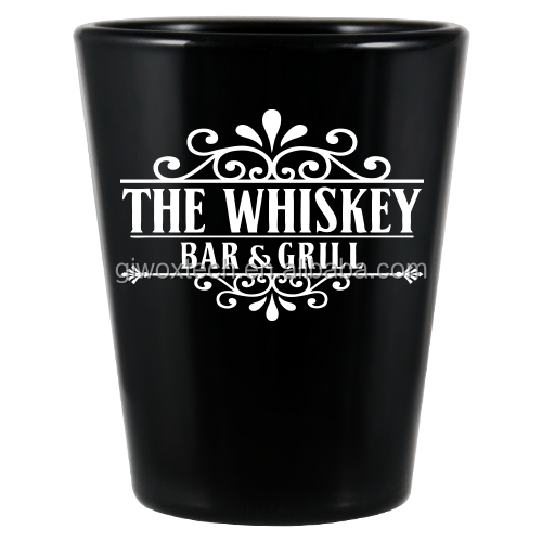 1.5 Oz Personalize Black BarConic Shot Glass