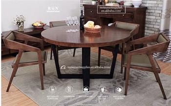 Tavolo Da Pranzo Rotondo : Legno ferro telaio in acciaio tavolo da pranzo rotondo per