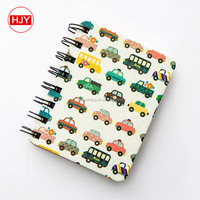 Cartoon notebook Wooden coil Simple ideas for thin Diary book students stationery gift