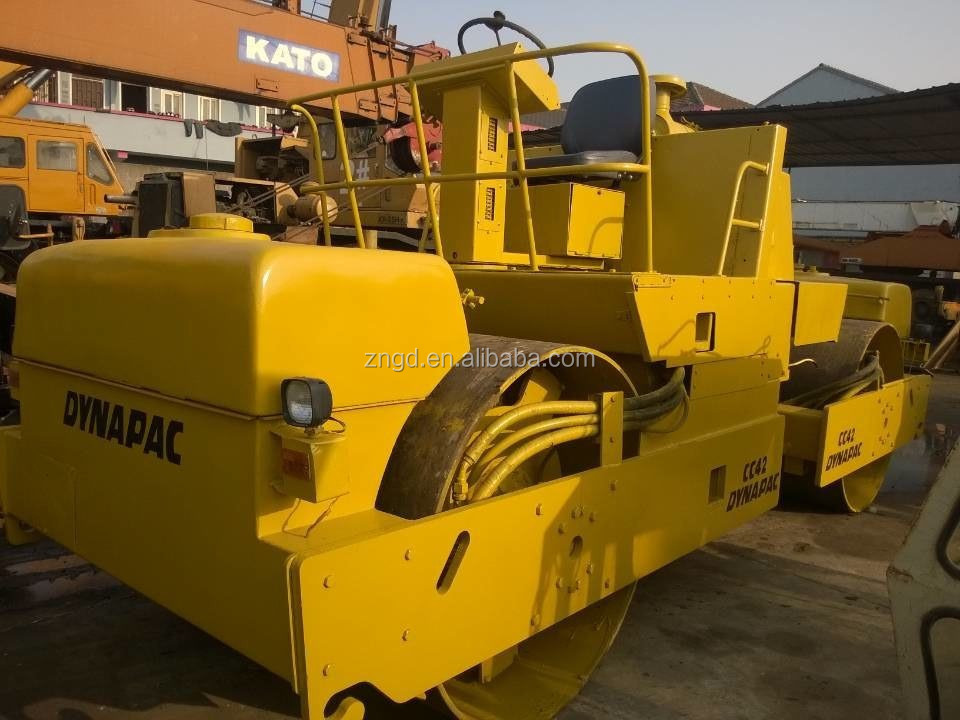 Original Dynapac Road roller CC42 best pirce with high quality Double viberation CC42 road roller
