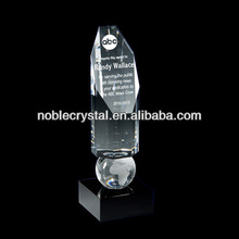 Noble America New Design Balancing Crystal World Globe Award