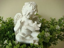 2012 New Style Stone Angel Statue Baby Sculpture VRS-062K