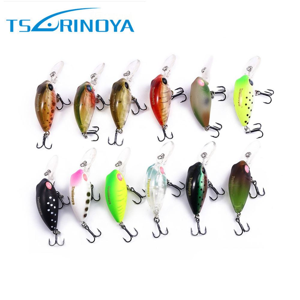 32mm 2.7g Bared King Mini <strong>Fishing</strong> Lure Hard Bait Crank Baits with Hook Artificial Lure Vivi Lure