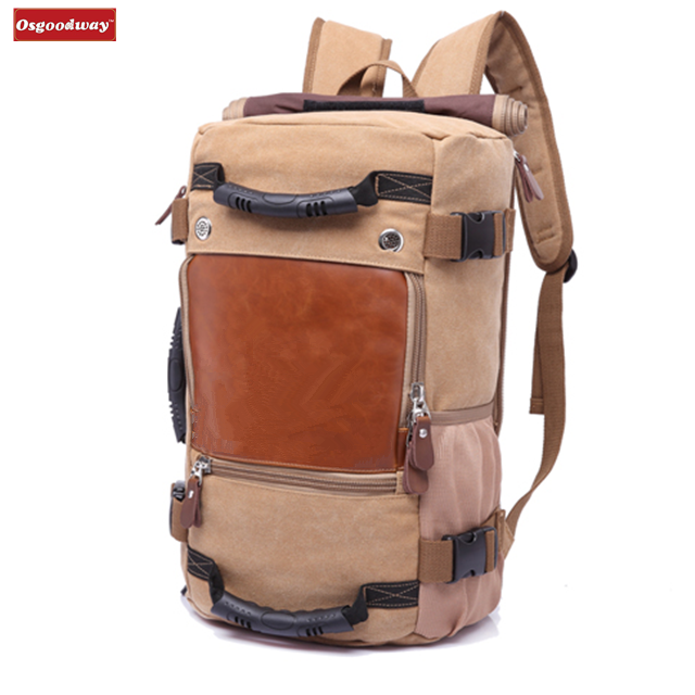 Osgoodway New Products Stylish Large Capacity Waterproof Leather Hiking Travel Backpack for Camping