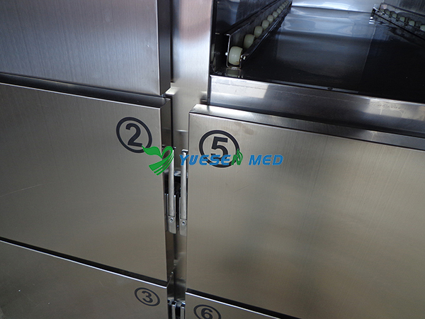 YSSTG0106 Precise temperature control system top quality stainless steel 6 corpses morgue refrigerators for sale