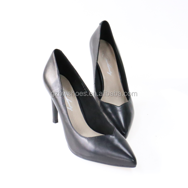 Female fashion high heel genuine leather material high heels lady shoes woman high heels