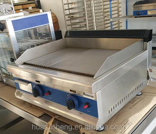 Commercial restaurant kitchen stainless steel flat plate gas grill griddle