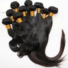 Soft Natural Color 100% Human Virgin Indian Remy Hair Weft Without Short Hair
