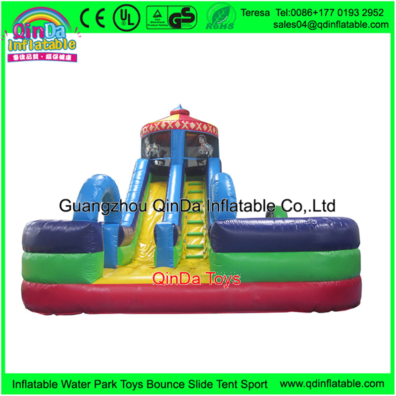 Wholesale Inflatable Bouncy Castle With Water Slide Professional Bouncy Castles Work For Trampoline Park