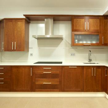 Modern Modular Wood Veneer Grain Kitchen Cabinets - Buy ...