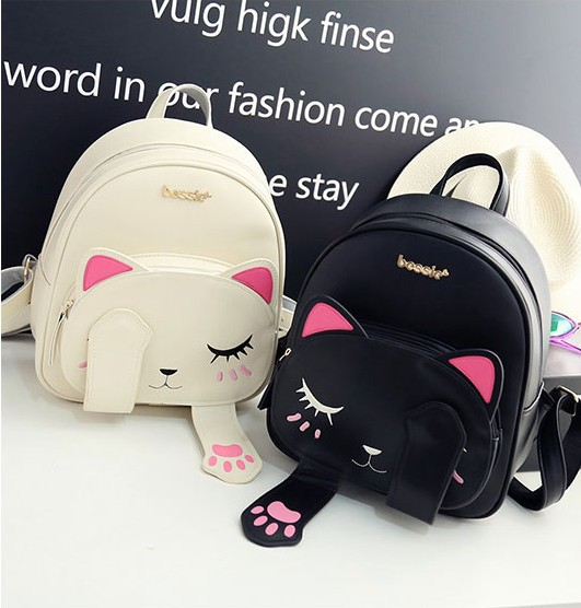 Korean Backpacks 2018 Princess Student Backpacks 3D Cat Bags