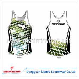 High quality dry fit custom design running singlet australia , running fitness outfits sets