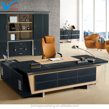 Superieur High End Office Furniture F65 Luxury Leather Office Table From Foshan  Factory