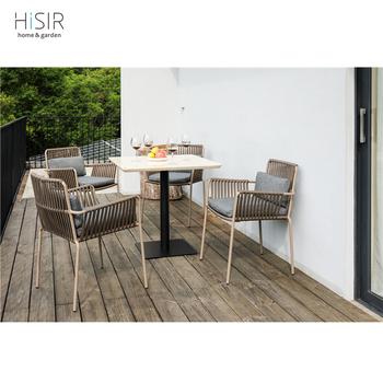 In stock outdoor rope dining sets garden furniture import from China