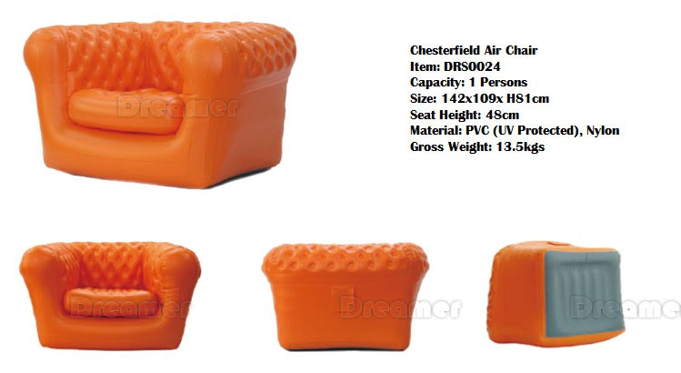 2016 hot heavy duty giant self inflating air beach sofa lounge inflatable chair for adult