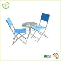garden line patio furniture 2014 metal and texline blue patio set