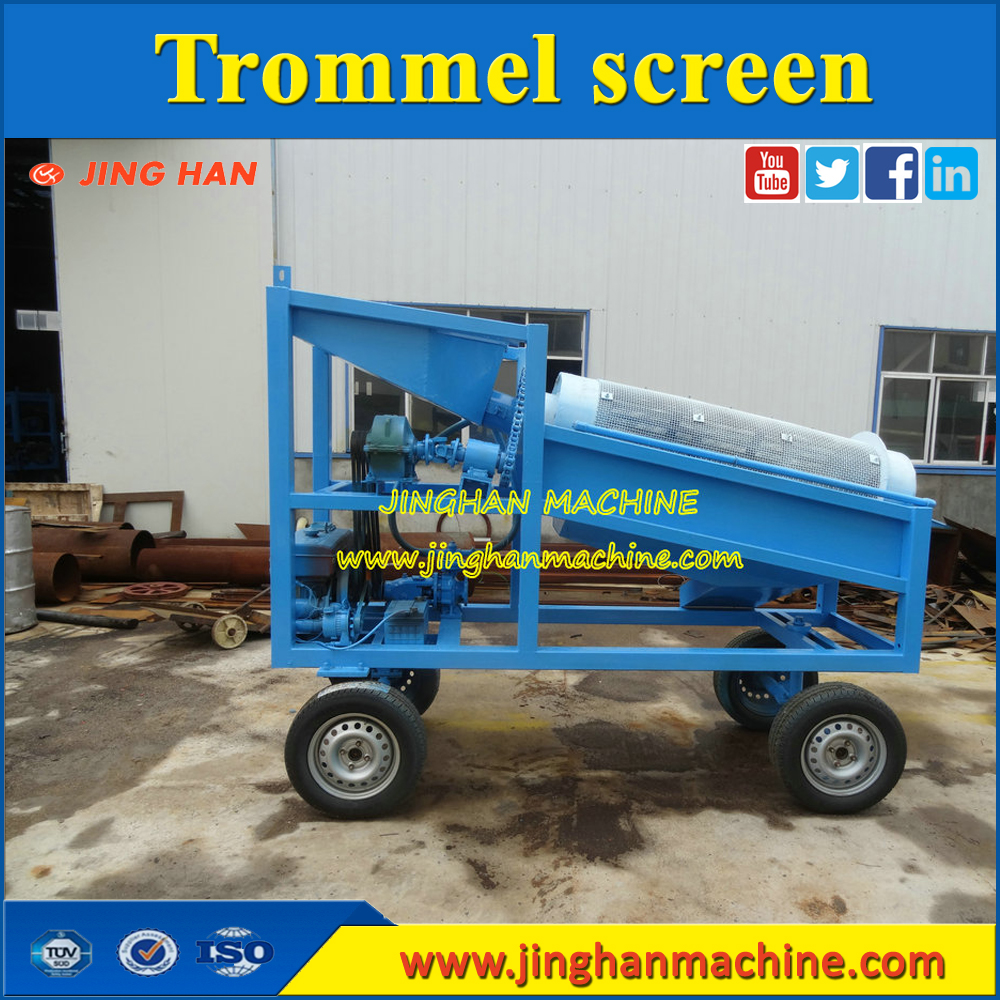 high reputation portable placer gold trommel screen plant for mining processing