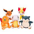 Pokemon go cartoons plush toys Pokemon dolls small flames Snorlax Eevee pull pull plush stuffed toys