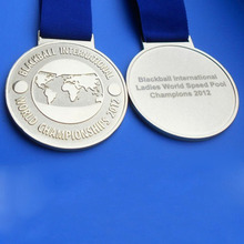 blackball international ladies world championships silver medallions medals with ribbon
