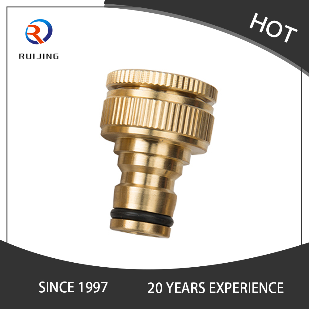 Brass Hose Quick Connect Garden Hose Tap Connector 1/ 2 Inch to 3/ 4 Inch Brass Hose Pipe Fittings