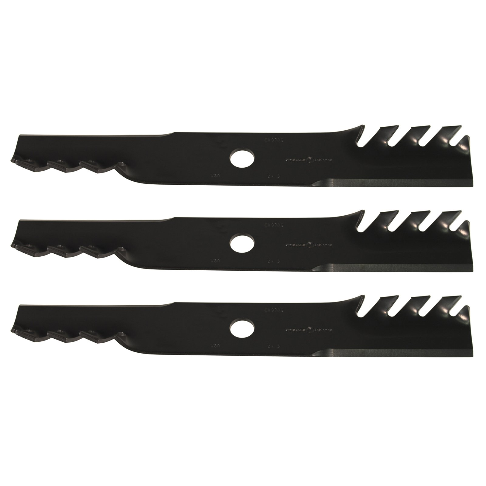 "USA Mower Blades (3) Toothed for Exmark 103-6382, Toro 109-6873 36"" 52"" Deck"