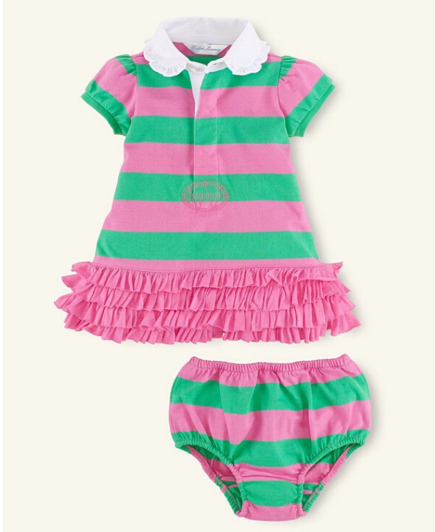 359cceaa0 Buy Child Baby Girls Summer Casual Stripe Shirts + PP Pants 100% Cotton Baby  Clothing Sets Newborn Girl Tutu Dress Baby Polo Clothes in Cheap Price on  ...