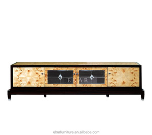 Chinese Classical Extra Long Veneered Wooden TV Cabinet From Foshan