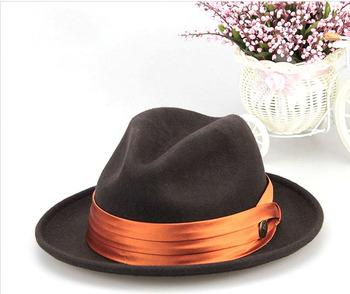 71117edc984 High Quality Wholesale Wool Felt Wide Brim Mens Fedora Hat - Buy ...
