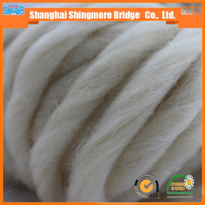2017 china novelty yarn manufacturer top selling pure wool yarn for knitting hats